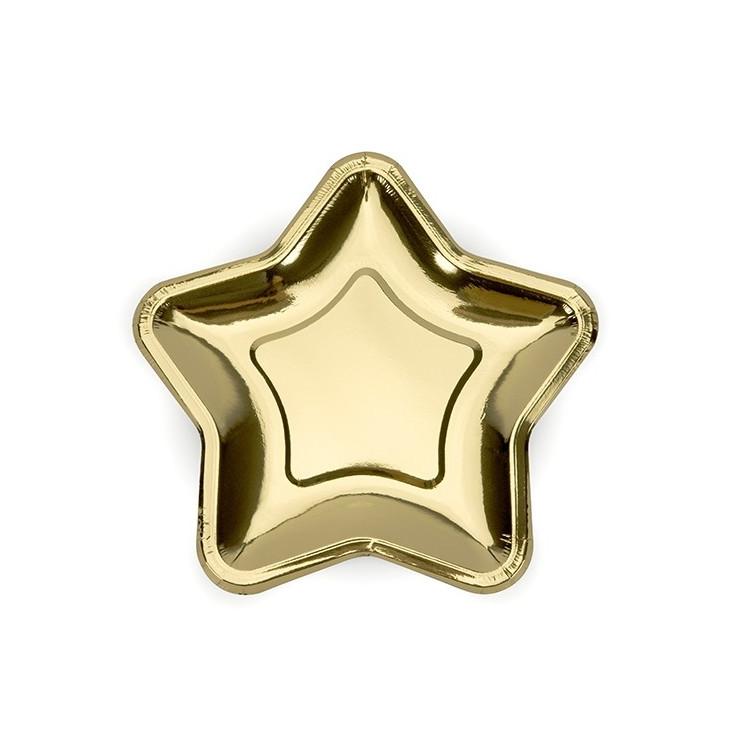 Assietter Stjärna Guld