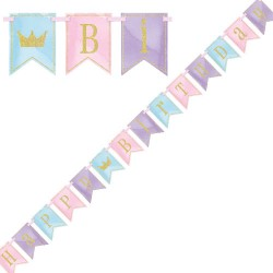 Banner Happy Birthday Pastell