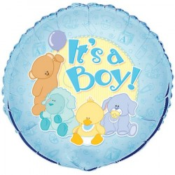 Folieballong Baby Animal, It´s a Boy