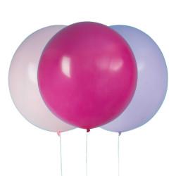 Jätteballonger 3-pack Rosa/lila