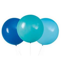 Jätteballonger 3-pack Blå/turkos