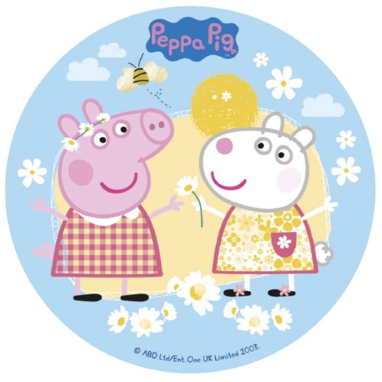Tårtbild Sockerpasta Peppa Pig
