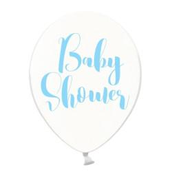 Ballonger Transparent BabyShower Ljusblå