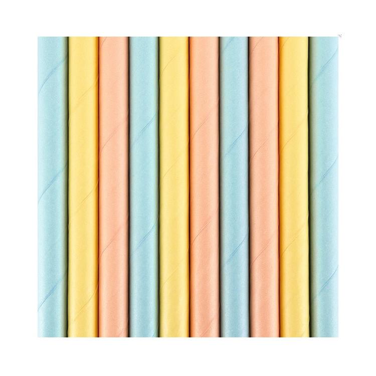 Papperssugrör Pastell