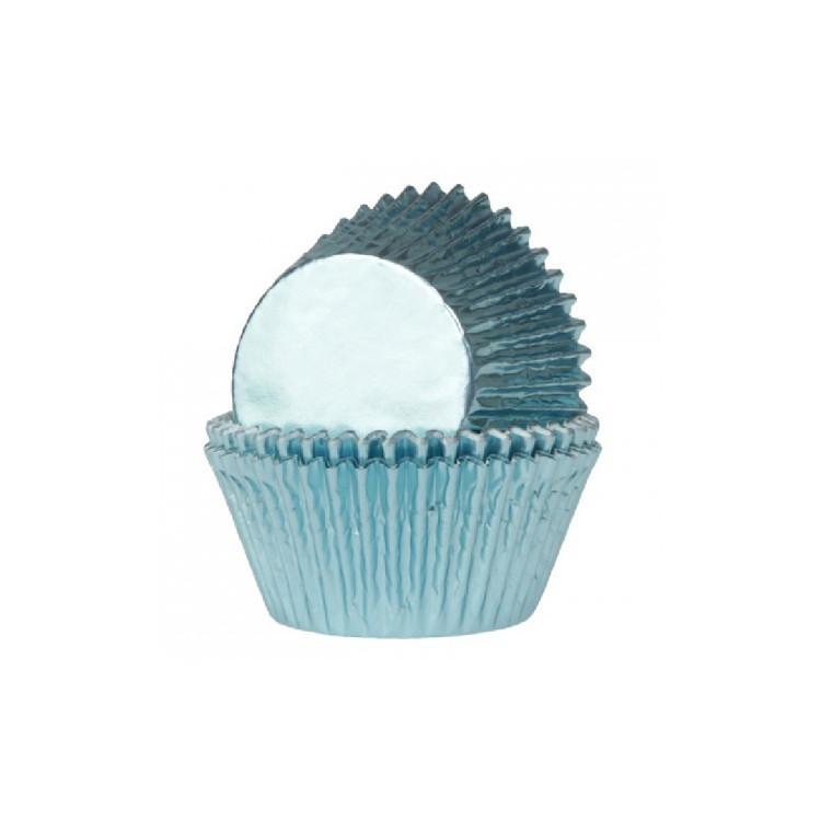 Muffinsformar Folie Ljusblå