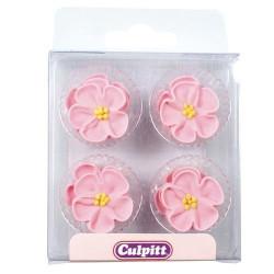 Tårtdekorationer Rosa Blommor
