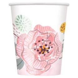 Muggar Rosa Blommor