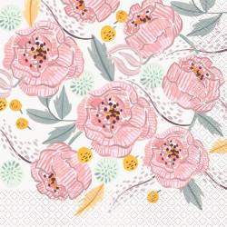 Servetter Rosa Blommor