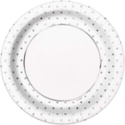 Tallrikar Silver Dots