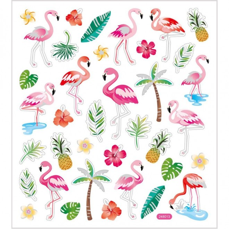 Klistermärken Flamingo
