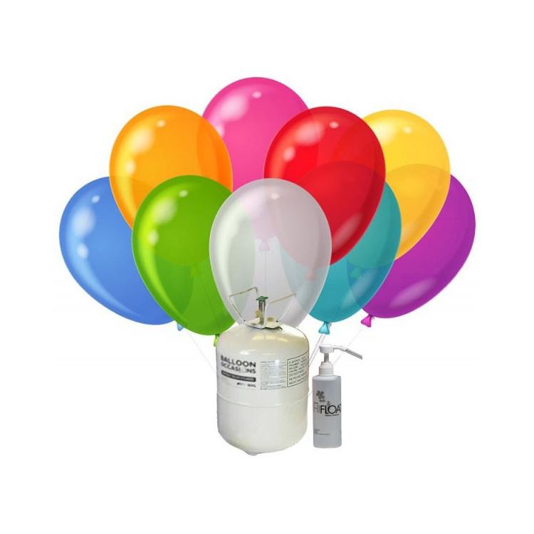 Helium och Hi-float till 1st latexballong. Hämtas i Knivsta.