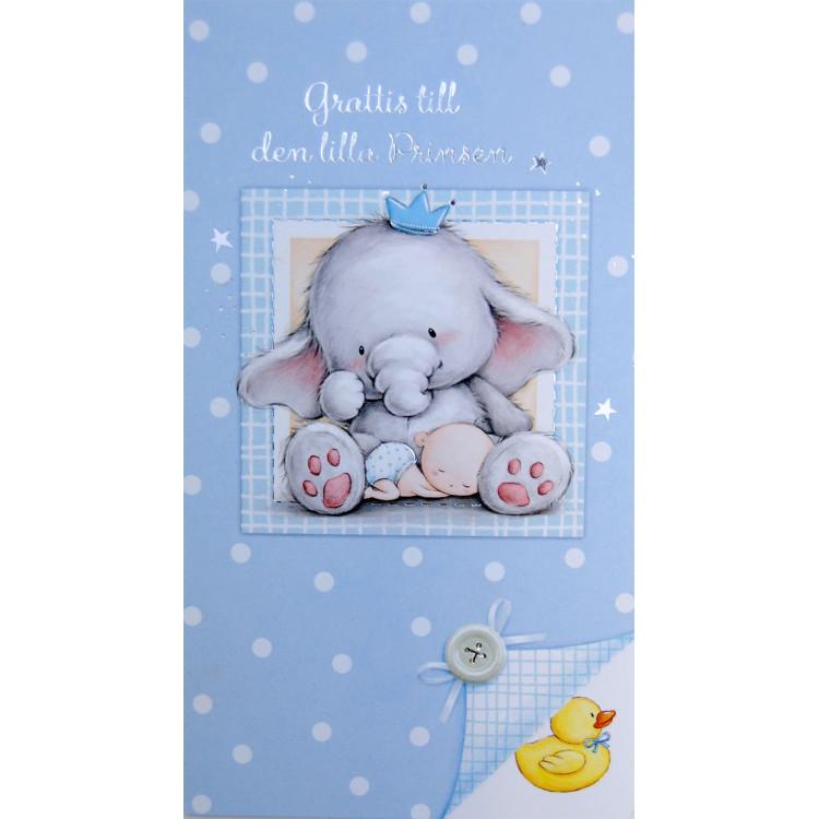 Gratulationskort Babypojke