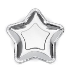 Assietter Stjärna Silver