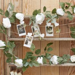 Blomstergirlang Vita Rosor