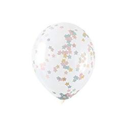 Ballong med Stjärnkonfetti Pastell