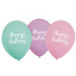 Ballonger Happy Birthday Pastell