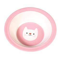 Melamintallrik Rosa Katt