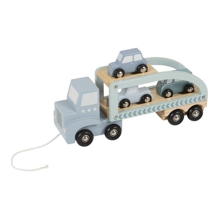 Biltransport Pastellblå