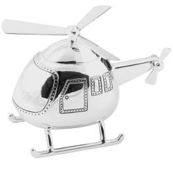 Silverpläterad Sparbössa Helikopter