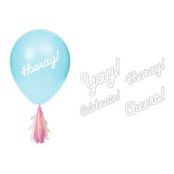 Ballonger med tofsar och klistermärken