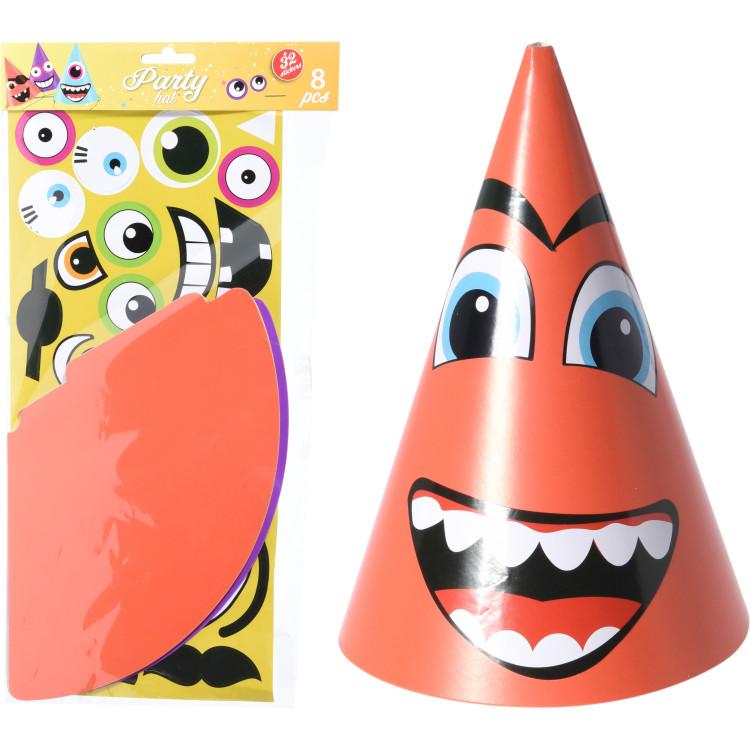 Köp Partyhattar DIY med stickers hos Partytajm a7adb80a44579