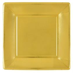 Tallrikar Högblank Guld