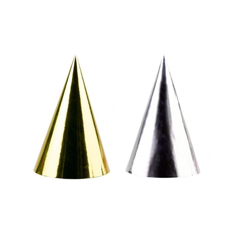 Partyhattar Guld och Silver