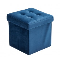 Sittpuff med förvaring Sammet Blå