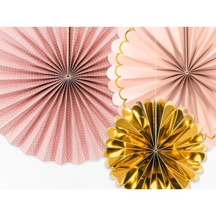 Pappersmåne 3-pack Rosa/Guld Mix