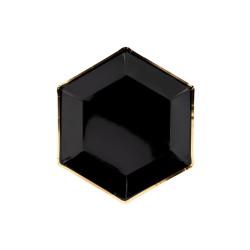 Papperstallrikar Svarta med Guldkant