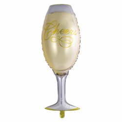 Folieballong Champagneglas