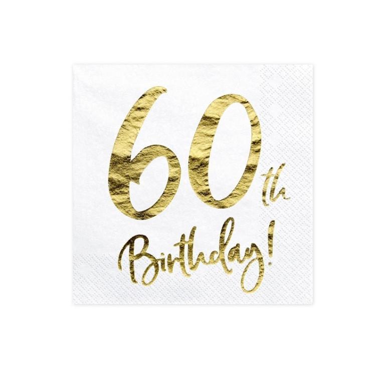 Servetter Vita 60 år
