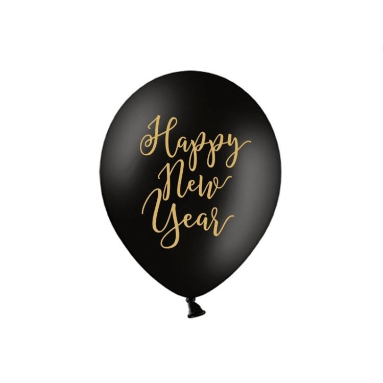 "Ballonger Svarta ""Happy New year"""