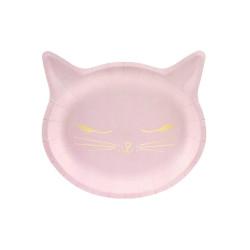 Papperstallrikar Rosa Katt