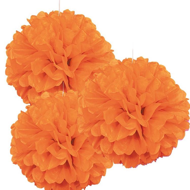 Pom Pom Orange 3-pack