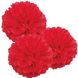Pom Pom Röd 3-pack