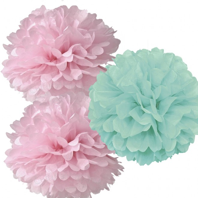 Pom Pom Mint-Rosa-Mix 3-pack
