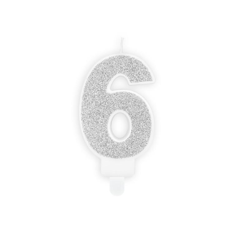Tårtljus 6 Silver