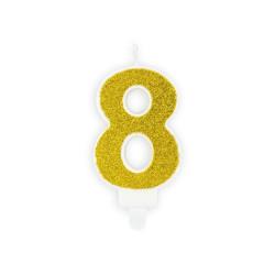 Tårtljus 8 Guld