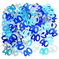 Konfetti 40 blå