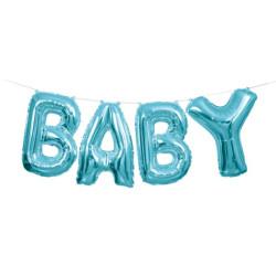 Ballonggirlang Baby Ljusblå