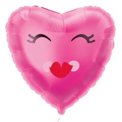 Folieballong Leende Hjärta