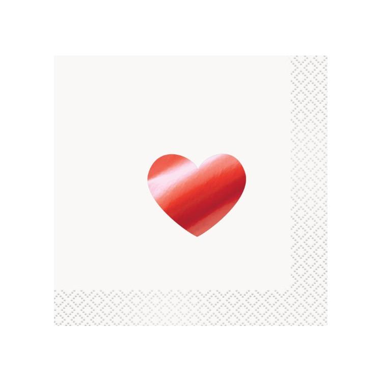 Kaffeservetter Rött Hjärta