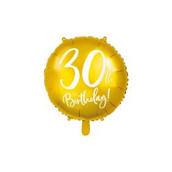 Folieballong Guld 30 år