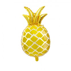 Folieballong Ananas Guld