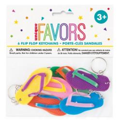 Nyceklringar Flip Flop 6-pack