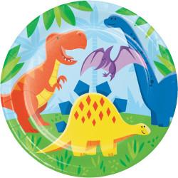 Papperstallrik Dinosaurie Vänner