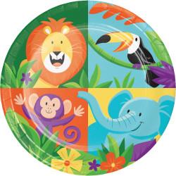 Pappersassietter Djungel Safari