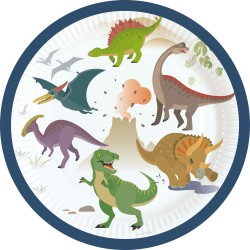 Pappersassietter Dinosaurier