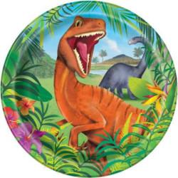 Papperstallrik Dinosaurie
